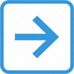 arrow, direction, move, navigation, right icon