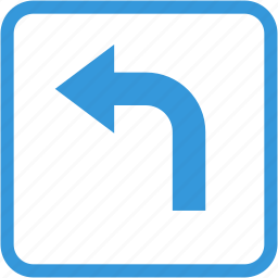 arrow, direction, navigation, turn left icon