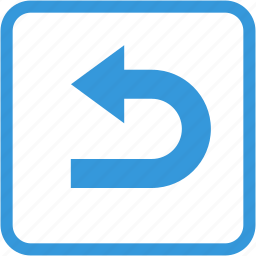 arrow, back, direction, move, next, right, turn icon