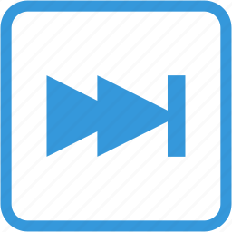 arrow, fast, next, video icon