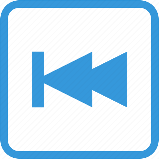 arrow, back, movie, slow, stop, video icon