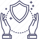 labour, protection, security, shield icon