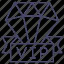 diamond, jewelry, premium, vip icon