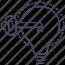 idea, problem, solving icon
