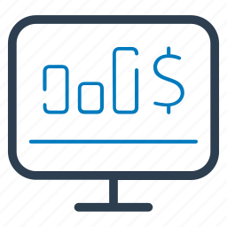 bar graph, chart, financial report, statistics icon