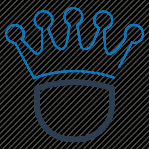 business winner, crown, king, royal icon