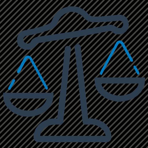 balance, choice, justice, law icon
