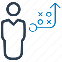 businessman, planning, solution, strategy icon