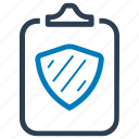 clipboard, document, protection, report, security icon