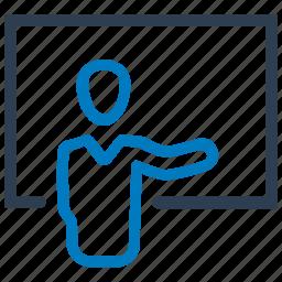 lecture, presentation, training icon