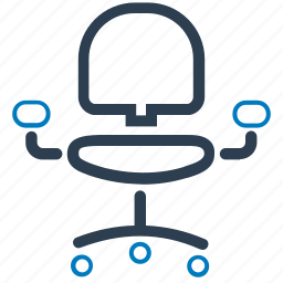 office chair, seat icon