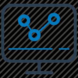 analysis, finance, marketing, online icon