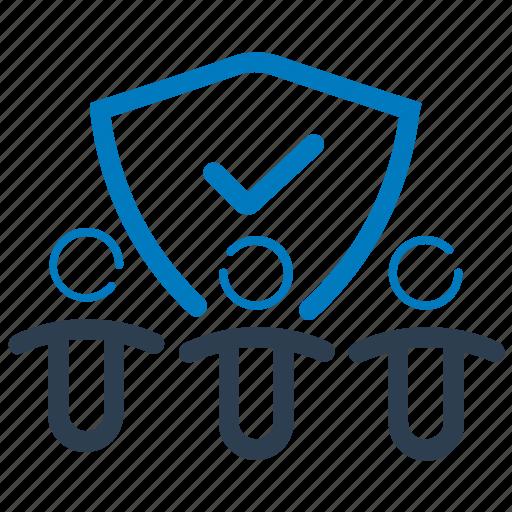 employee security, employers insurance, life insurance icon