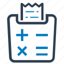 bill, calculator, reciept, tax, tax calculator icon