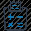 bill, calculator, reciept, tax calculator icon