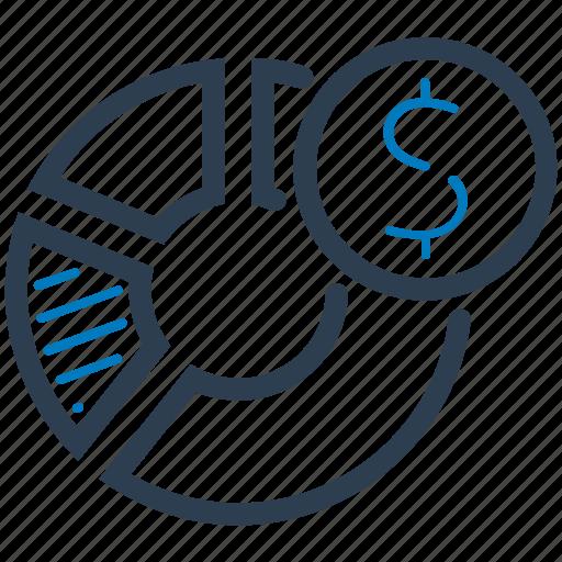 financial, report, sales report, statistics icon
