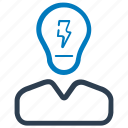 brainstorming, businessman, idea icon