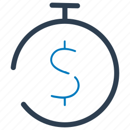 budget, money, term deposit, time icon