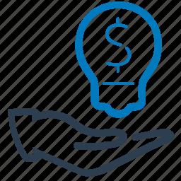 budget plan, business idea, financial, idea icon