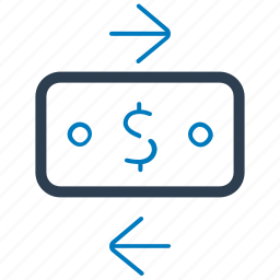 exchange, money, transaction, transfer icon