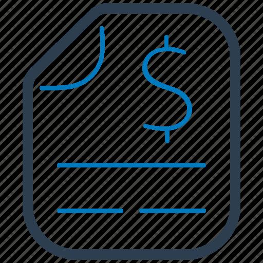 bill, invoice, receipt, sales report icon