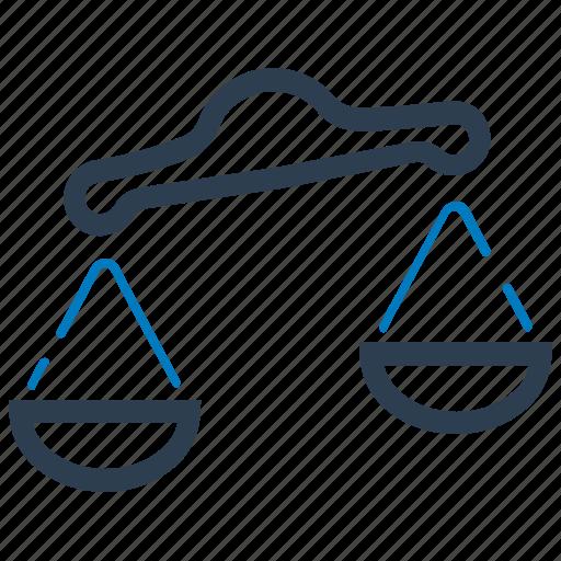 balance, decision, law, scale icon