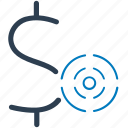 business, financial, money, profit, target icon
