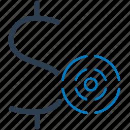 business, financial, money, profit, target icon