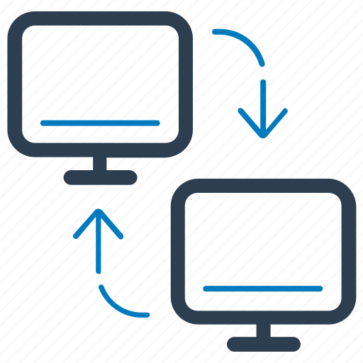 computer, connectivity, data transfer, network share icon