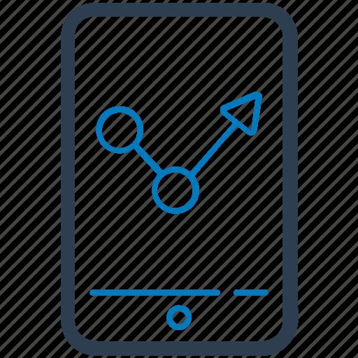 analysis, marketing, mobile, mobile graph icon