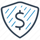 bank, insurance, money, security icon