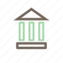 building, court, home, house, law icon