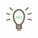 brainstorm, creativity, idea, light, lightning, power icon