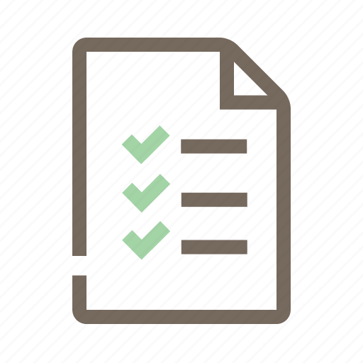 check mark, document, file, folder, paper icon
