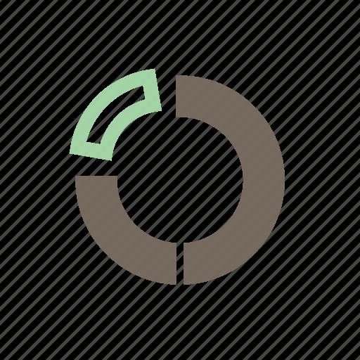 analytics, graph, pie color, report, statistics icon
