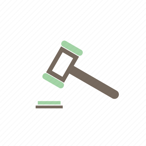 auction, hammer, law, tool icon