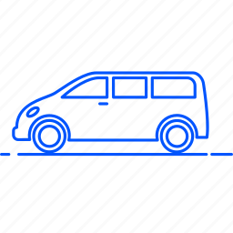 avto, bus, car, transport, travel, van, vehicle icon