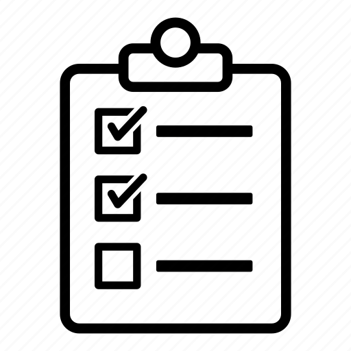 checklist, clipboard, list, report, task, ticks icon