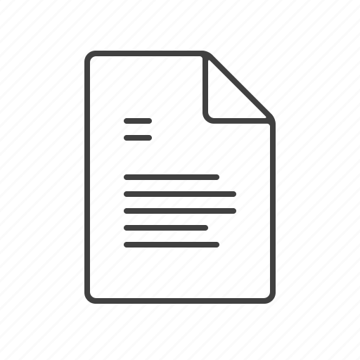 doc, document, letter, news, newspaper, text, word icon