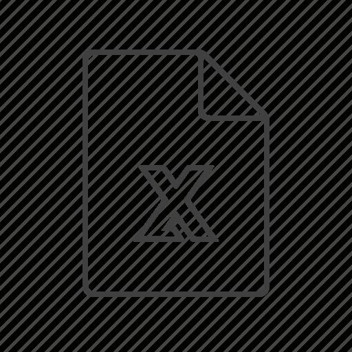 amount, doc, document, excel, table, xls, xlsx icon