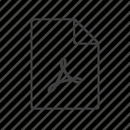 acrobat, adobe, doc, document, pdf, presentation, report icon
