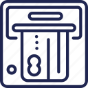 atm, banking, credit, currency, finance, money, withdrawal icon