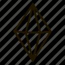 gems, jewel, line, precions, rombus, stone icon