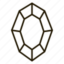 gems, jewel, line, precions, stone icon