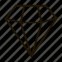 adamant, brilliant, diamond, gems, jewel, precions, stone icon