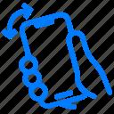 gesture, phone, shake icon