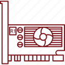 hardware, komputer, vga graphic card icon