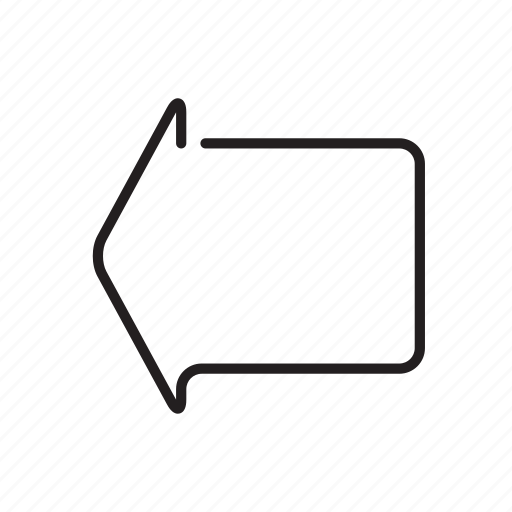 arrow, arrowhead, cursor, direction, left, pointer icon