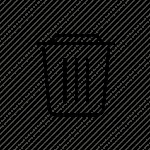 garbage, garbage can, litter, trash, trashcan icon