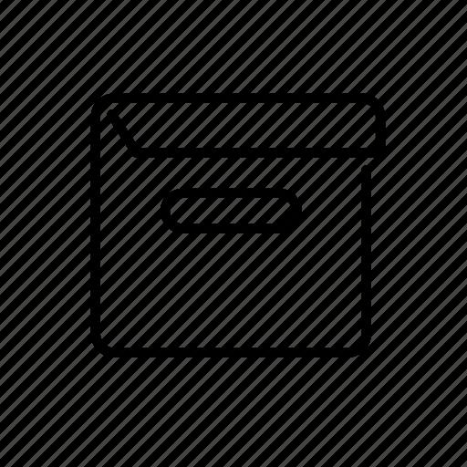 archive, box, case, documentation, shell icon